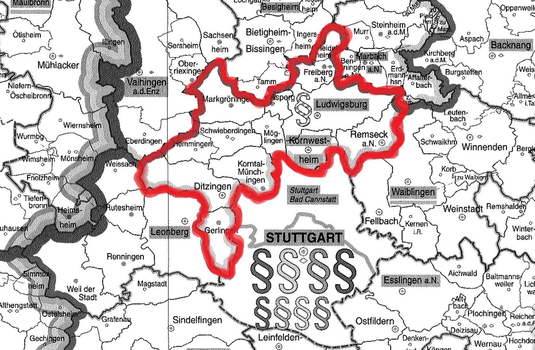 Amtsgericht Ludwigsburg Bezirk